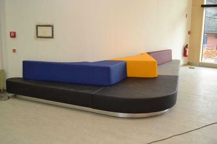 Möbelbau & Innenausbau - Sitzecke bunt Leder