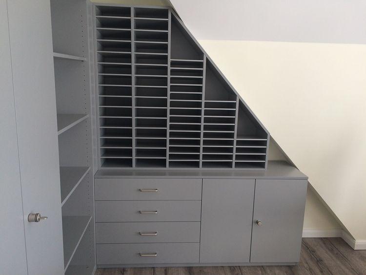 Möbelbau & Innenausbau - Büroregal unter Dachschräge